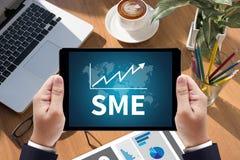 TANGENT för SME eller för små och medelstora företag TILL SME-FRAMGÅNG Arkivfoto