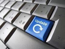 Tangent för uppdateringsymbolsdator fotografering för bildbyråer