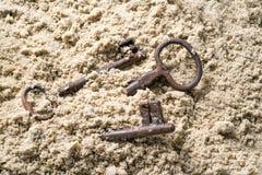 Tangent som är borttappad i sand arkivbild