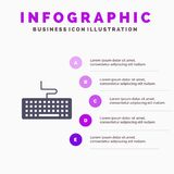Tangent tangentbord, maskinvara, mall för utbildningsInfographics presentation Presentation för 5 moment royaltyfri illustrationer