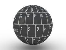 Tangentbord av en anteckningsbokdator Arkivbild