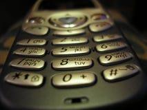 Tangentbord av en mobil telefon Arkivfoto