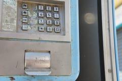 Tangentbord för bås för offentlig telefon royaltyfri fotografi