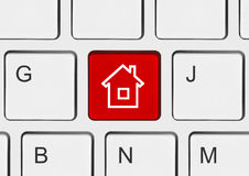 tangentbord för home tangent för dator Royaltyfri Foto