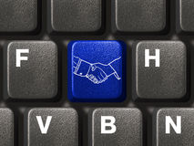 tangentbord för knappdatorhandskakning Royaltyfri Bild