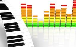 tangentbord för piano för tangentbord för piano 3d Royaltyfri Bild