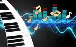 tangentbord för piano för tangentbord för piano 3d Royaltyfria Bilder