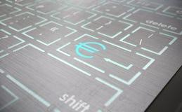 Tangentbord med euroet icon2 Arkivfoton
