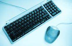 Tangentbord och mus. Arkivbild