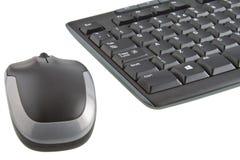 Tangentbord och mus Arkivfoto