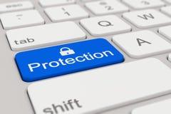 Tangentbord - skydd - blått stock illustrationer