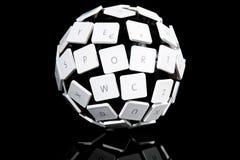 Tangentbordbollbegrepp fotografering för bildbyråer
