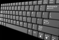 tangentbordet för closeupdatortangenten märker bärbar dator Arkivbild
