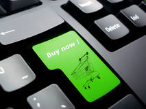 tangentbordet shoppar arkivbild