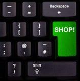 tangentbordet shoppar Fotografering för Bildbyråer