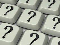 tangentbordfläckfråga Arkivfoto