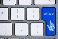 Tangentbordknappen för förbinder Fotografering för Bildbyråer
