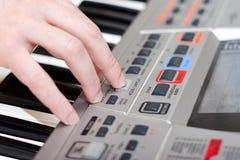 tangentbordmusikspelrum Fotografering för Bildbyråer