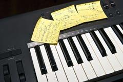 tangentbordmusikspelrum som är klart till Royaltyfri Bild