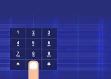 tangentbordssmartphone Arkivbilder