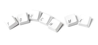 tangentbordtangenter mig touchwriting Royaltyfria Foton