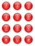 tangentbordtelefonred Royaltyfri Fotografi