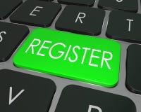Tangenten för registerdatortangentbordet skriva in sig skriver in lagerplatsen Fotografering för Bildbyråer