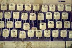 Tangenter av gammal skrivmaskin 1 Arkivfoto
