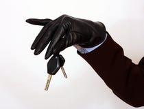 tangenter för holding för bilkvinnlighand Arkivbild