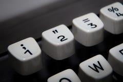 Tangenter 1,2 och 3 på den gamla skrivmaskinen royaltyfri fotografi