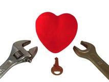 Tangenter till hjärta Arkivbild