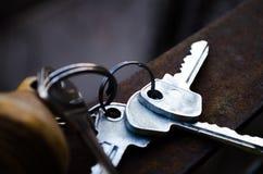 Tangenterna gruppen keys white Tangenterna till lägenheten Rumtangenter med fjärrkontroll Träkeychain med nummer och tangenter royaltyfri foto