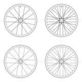 Tangentiales Schnürenmuster des Fahrradspeichenrads Vektor Abbildung