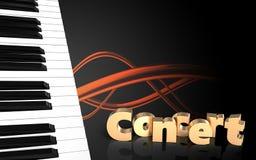 tangentmellanrum för piano 3d Arkivfoton