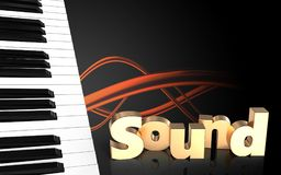 tangentmellanrum för piano 3d Arkivbilder