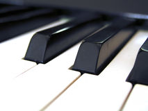 Tangents. Closeup of a piano keyboard stock photos