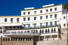 Tanger, Marokko, Wit huis, Continentaal Hotel stock afbeeldingen