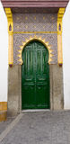 Tanger in Morocco, Africa. Ancient door of the old town Medina in Tanger, Morocco, Africa stock photos