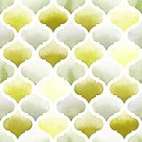 Tanger-Wolldecke von grünen Farben auf weißem Hintergrund Nahtloses Muster des Aquarells Lizenzfreies Stockfoto