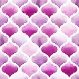 Tanger-Wolldecke von purpurroten Farben auf weißem Hintergrund Nahtloses Muster des Aquarells bodacious Lizenzfreies Stockbild