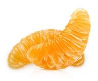 Tangerin fruit slice isolated Royalty Free Stock Image