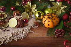 Tangerin med kryddor Arkivfoton