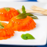 Tangerina alaranjada Jelly Desserts do mandarino foto de stock royalty free