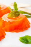 Tangerina alaranjada Jelly Desserts do mandarino imagens de stock royalty free
