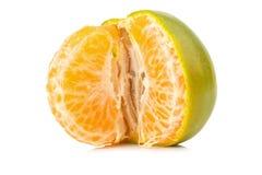 Tangerine Γλυκό πορτοκάλι Στην άσπρη ανασκόπηση Στοκ Εικόνες