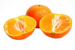 tangerine δύο μισών ανασκόπησης λ&epsilon Στοκ εικόνα με δικαίωμα ελεύθερης χρήσης