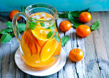 Tangerine λεμονάδα στοκ εικόνα