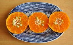 Tangerine: Εύγευστα υγιή φρούτα πορτοκαλιών και νωπών καρπών Στοκ Φωτογραφία