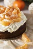 Tangerine κέικ Στοκ φωτογραφίες με δικαίωμα ελεύθερης χρήσης