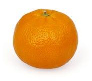 Tangerine που απομονώνεται στο λευκό Στοκ Εικόνα